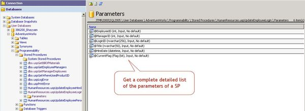 Get a detailed list of all parameters of any stored procedure.